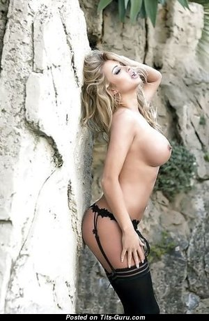 Yummy Babe with Yummy Bare Round Fake D Size Titty (Sexual Picture)