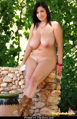 Image. Naked wonderful girl with natural boob photo