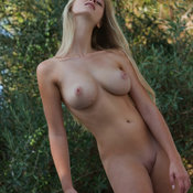 Beautiful woman with big natural boob photo