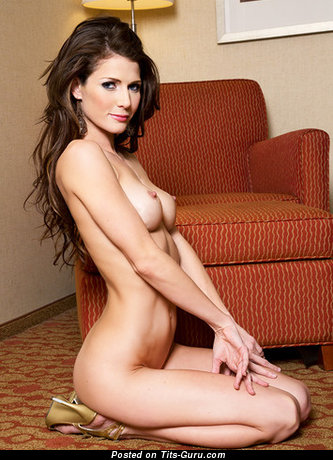 Image. Jenni Lee - naked brunette with medium natural tittes image