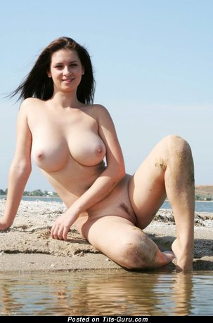Sexy nude hot woman with medium natural tittes image