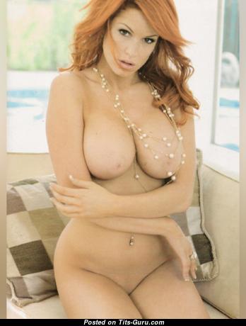 Ann-Krystel Goyer - Grand Naked Playboy Red Hair (Xxx Photoshoot)