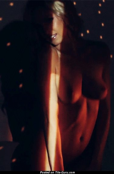 Image. Nude nice lady with medium natural breast gif