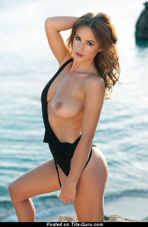 Naked beautiful female with natural tittys image