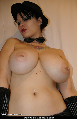 Jennique Adams - Elegant German Brunette Babe with Marvelous Exposed Natural Sizable Busts, Tattoo & Piercing (Hd Xxx Pic)