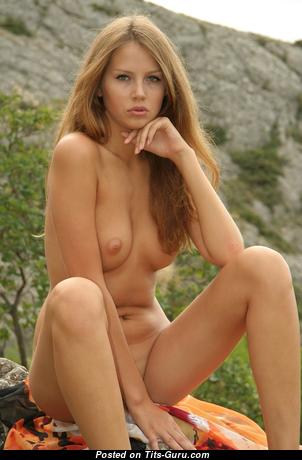 Nadya Hill - Splendid Blonde Babe with Splendid Bare Natural Med Boobys (Xxx Photo)