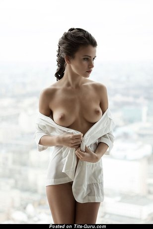 Image. Nude wonderful female with natural boobs picture
