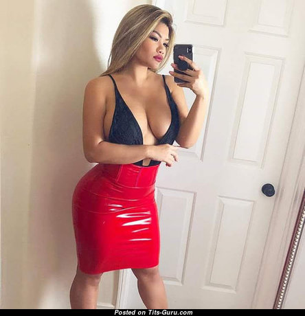 Hot Asian - Splendid Non-Nude & Glamour Asian Playboy & Escort Blonde Dancer & Babe with Splendid Natural Firm Tittys in High Heels is Doing Fitness (Private Sexual Photo)