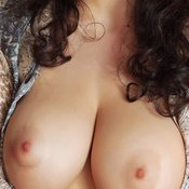 Hot female with big natural boob image