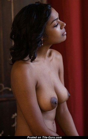 Image. Naked ebony with medium natural breast image