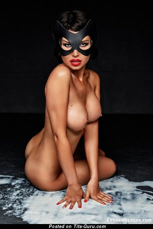 Adorable Topless Playboy Brunette Babe with Adorable Open Tight Boobs & Huge Nipples (Hd Sexual Photo)