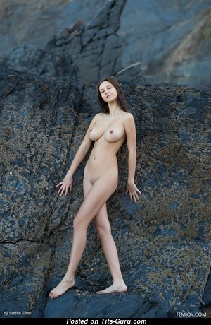 Alisa I - Amazing Topless Russian Red Hair Babe with Hot Defenseless Natural Boobie (Hd 18+ Picture)
