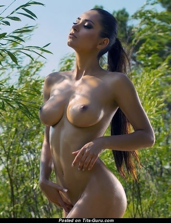 Elegant Glamour & Topless Blonde with Elegant Nude Natural Tittys & Long Nipples (Vintage Sex Photo)