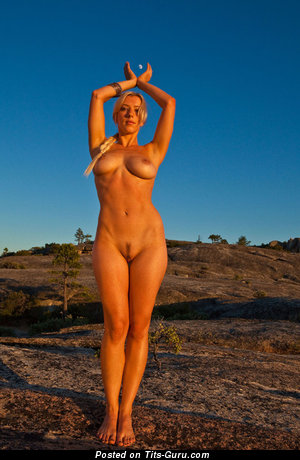 Image. Nude hot female with medium natural boobs picture