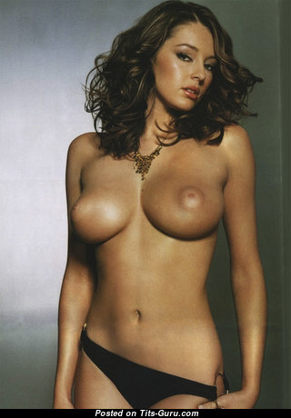 Keeley Rebecca Hazell - Magnificent Glamour & Topless Brunette Actress & Singer with Magnificent Exposed Natural Titties & Inverted Nipples in Panties (18+ Foto)