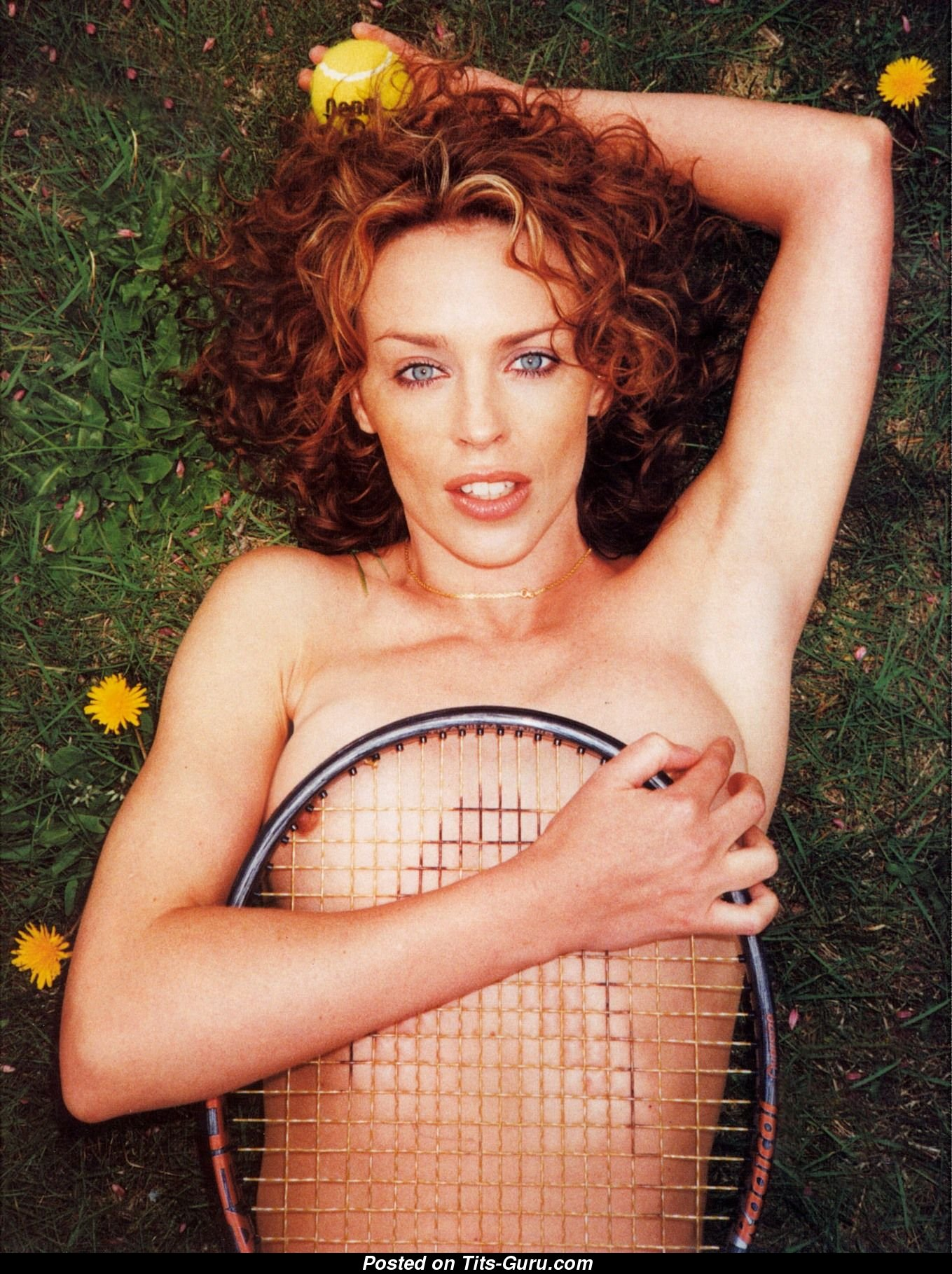 Kylie Minogue - Blonde Babe with Exposed Natural Hooters ...