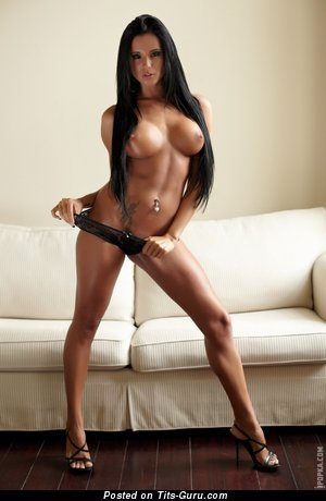 Image. Ashley Bulgari - nude brunette with big fake tittys photo
