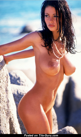 Veronica Zemanova - Good-Looking Glamour Czech Brunette Babe with Good-Looking Defenseless Real Mid Size Boobys & Huge Nipples on the Beach (Hd Sexual Foto)