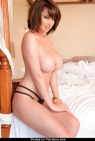 Image. Brunette with huge natural boobies pic
