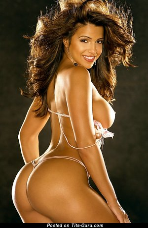 Vida Guerra - Lovely Topless American Red Hair Girlfriend with Yummy Naked Tight Boobie & Red Nipples in Panties & Lingerie (Sex Photoshoot)