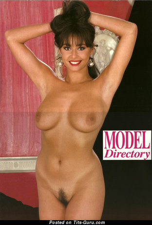 Maria Whittaker - sexy naked brunette with medium natural boobies vintage