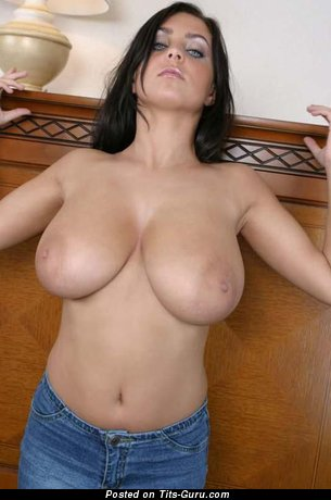 Image. Nude hot female with huge natural breast image