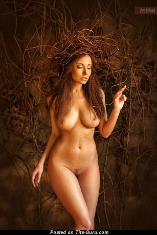 Anna Reis - sexy naked wonderful girl with medium natural tits photo