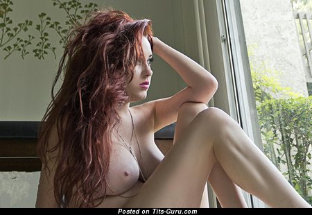 Image. Naked red hair with big natural tittys picture