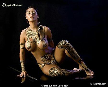 Image. Stephanie Arias - sexy nude latina with medium boob pic