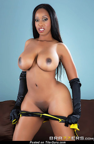 Codi Briant - nude ebony with huge boobs picture