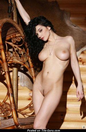 Image. Jenya D - brunette with medium natural tittes photo