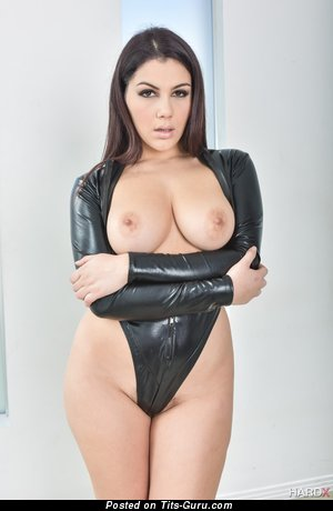 Valentina Nappi - sexy topless brunette with medium natural boob photo