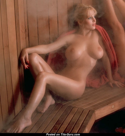 Kimberly Mcarthur - Cute American Playboy Blonde Actress with Cute Nude Real Boobies in Lingerie (Porn Pix)