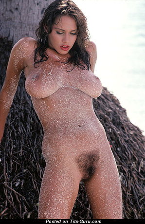 Karen Velez - Exquisite American Playboy Babe with Exquisite Exposed Natural Mid Size Tittys (Vintage Sex Photo)