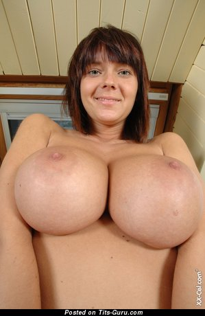 Image. Ala Passtel (gabrielle) - sexy topless brunette with big tits and big nipples pic