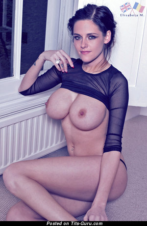 Kristen Stewart - topless brunette image