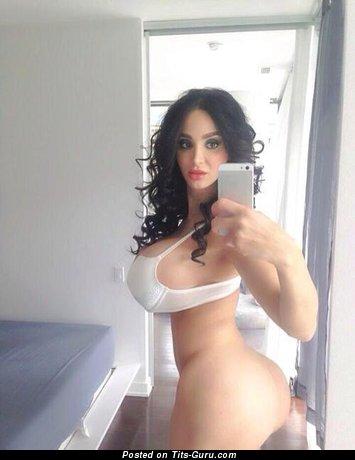 Image. Nude beautiful girl with big fake tots image