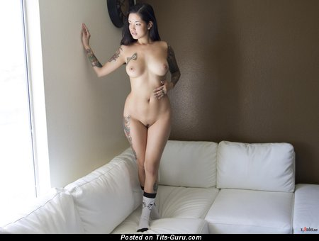 Image. Myca Most - naked awesome lady with natural boob and tattoo picture