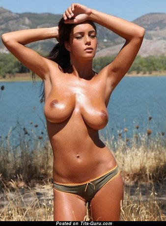 Sexy naked awesome female with medium natural tittys photo