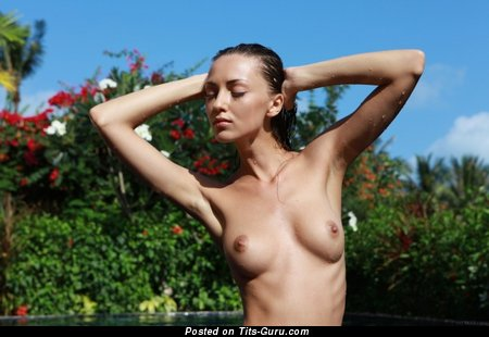 Image. Nude awesome female with natural boob photo