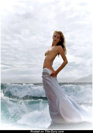 Image. Nude nice woman with medium natural boobs image