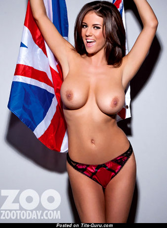 Rachel Williams - topless brunette with medium natural tots image