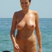 Hot female with natural boob image
