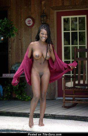 Image. Deserea - nude ebony with big natural boob and big nipples photo