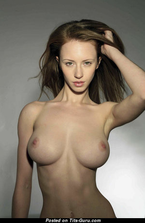 Katerina Olendskaia - Cute Glamour & Topless Brunette Babe with Red Nipples is Smoking (Sex Pic)