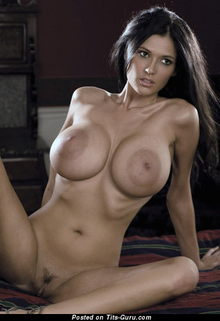 Image. Naked hot female with fake tits pic