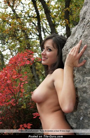 Image. Brunette with big boob picture