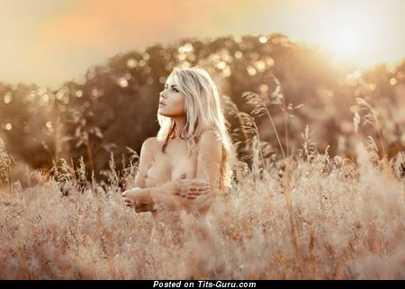 Image. Naked beautiful woman with natural tittys photo