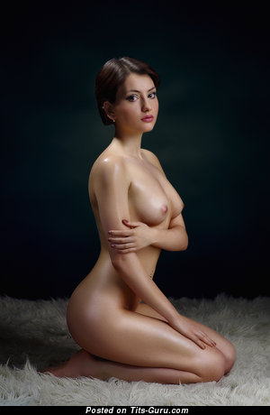 Image. Naked nice woman with medium natural breast photo