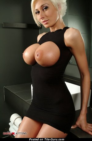 Marie-Claude Bourbonnais - Splendid Canadian Blonde Babe with Splendid Defenseless Round Fake Big Sized Titties (Hd Xxx Pic)